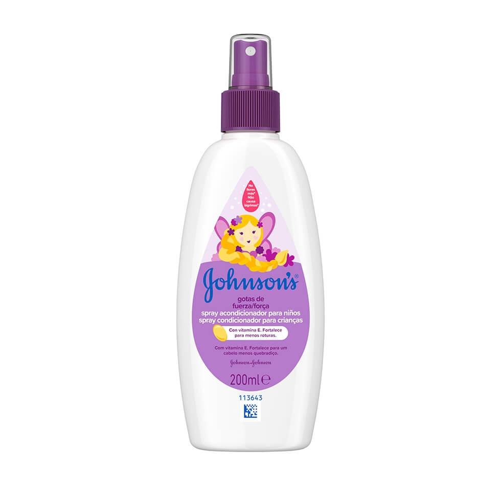 JOHNSON'S® Gotas de Fuerza Acondicionador en Spray para Niños